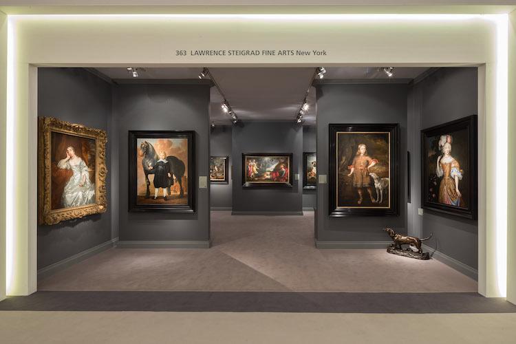 Les acheteurs chinois achètent de plus en plus d'art ancien Le stand de Lawrence Steigrad Fine Arts, TEFAF 2017