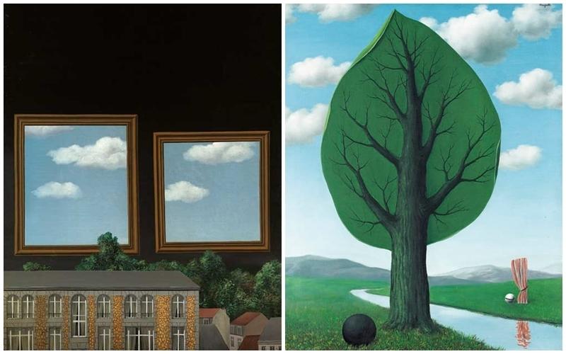 « Le promenoir des amants » (1929-30) vendu en février 2007 pour 860,000 GBP et « La géante » (1935) vendu en février 2002 pour 553,750 GBP chez Christie's, images via Christie's