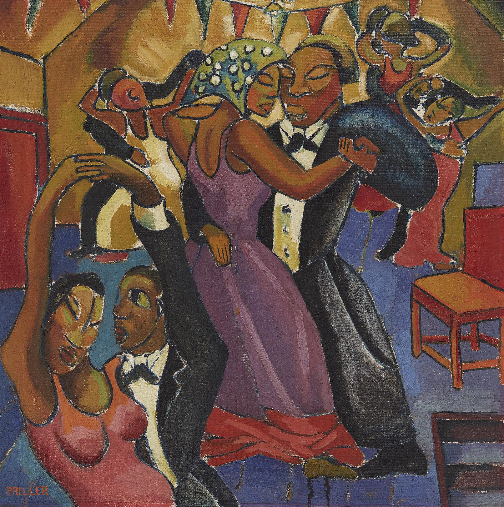 ALEXIS PRELLER (1911-1975) - The Dance, Öl/Sackleinen, signert, 1936 oder früher