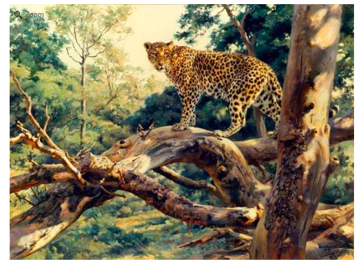 Artist: Donald Grant (British, 1930-2001) The Lookout - Leopard, Date: VV
