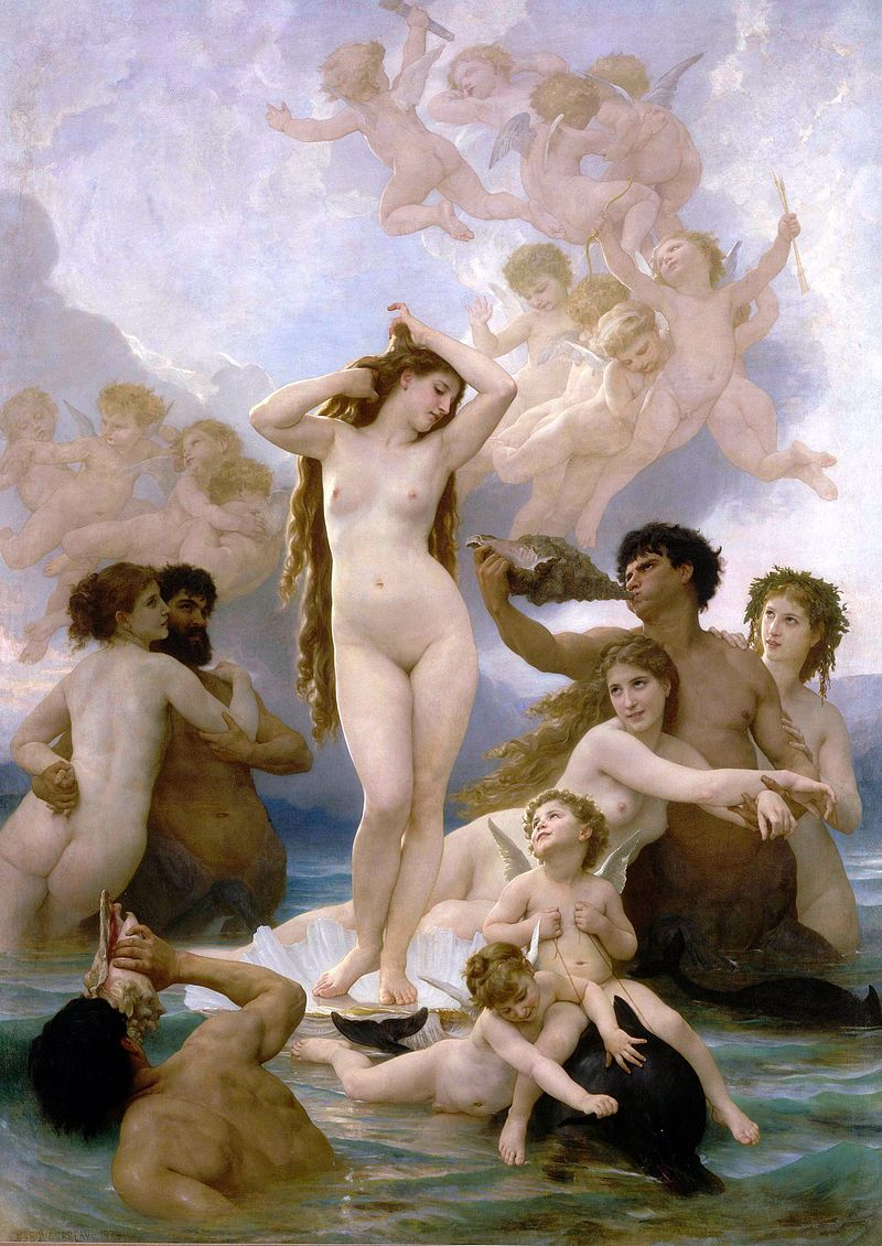 The Birth of Venus, William Bouguereau. 1879, oil on canvas. Image: Musee d'Orsay