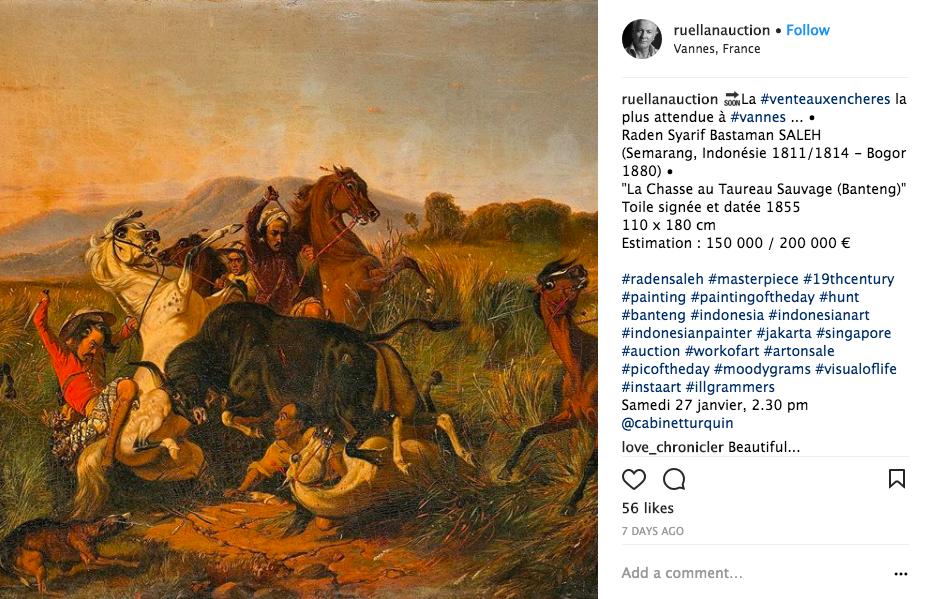 Capture d'écran via Instagram @ruellanauction