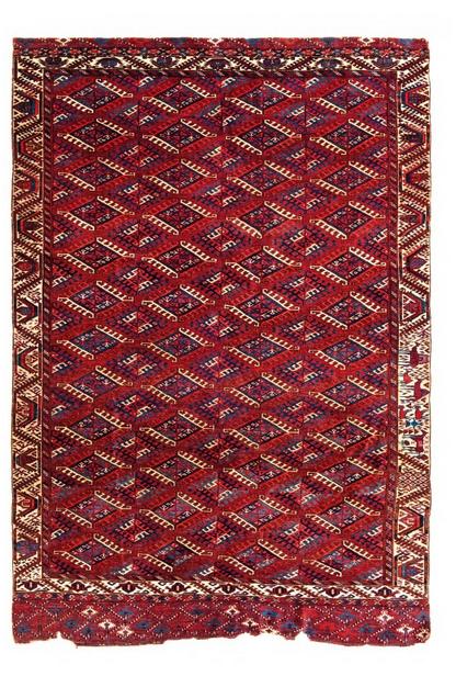 Tekke Hauptteppich, Wolle, 260 x 185 cm, Turkmenistan, erste Hälfte 19. Jhdt. Schätzpreis: 25.000 - 35.000 EUR