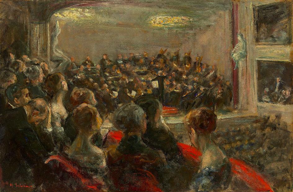 "Max Liebermann, ""Konzert in der Opera"", 1920 En vente le 30 novembre chez Grisebach Estimation: EUR 350 000 - 450 000"
