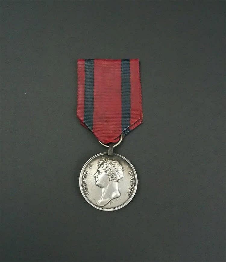 """Condecoración de plata inglesa """"George P. Regent"""" a los vencedores de Waterloo"""