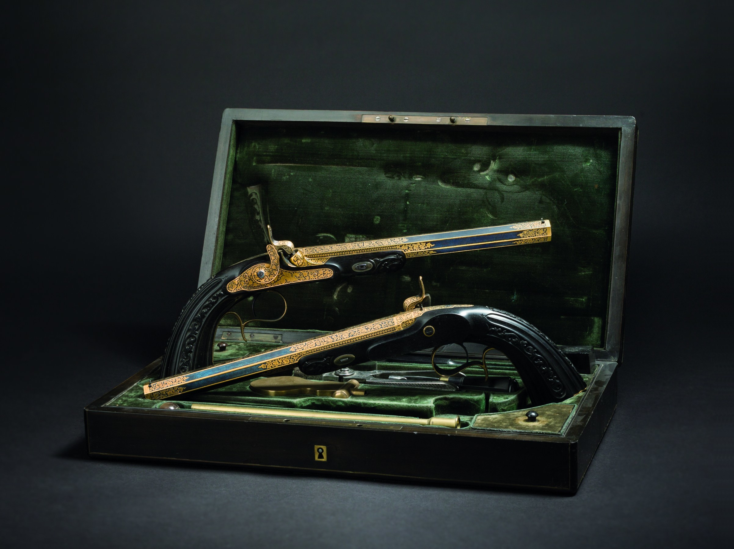 Paire de pistolets à percussion, Le Page Moutier, Paris, vers 1850