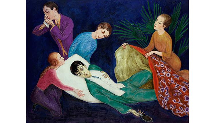 Den döende dandyn (1918) av Nils Dardel