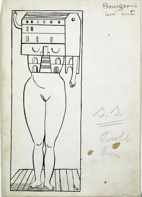 "Louise Bourgeois, ""Femme-maison"", 1947, immagine via Tumblr"