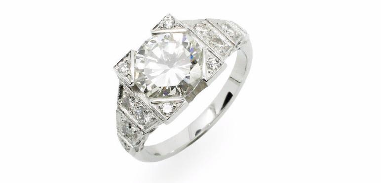 Bague Diamant 2,06 Carats Création Benoit Joaillier