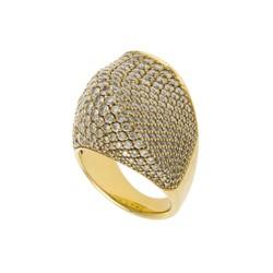Ring aus Gelbgold mit ca. 270 Brillanten (zus. ca. 8 ct) Ausruf: 5.000 EUR