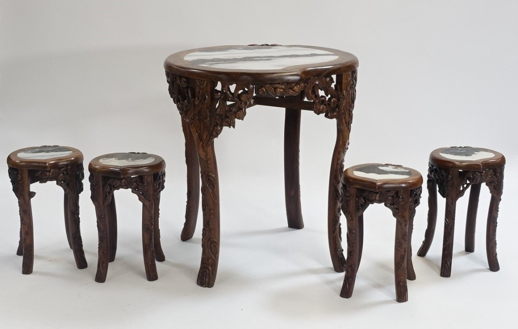 Chinese table and chairs