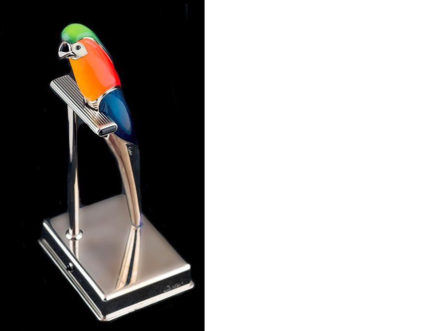 "CARTIER Füllfederhalter ""Lovebird"", Silber, Emaille, GG, 250/250"