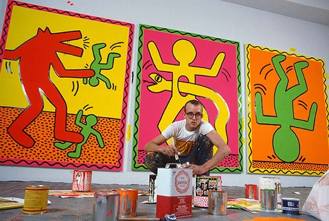 Keith Haring i ateljén