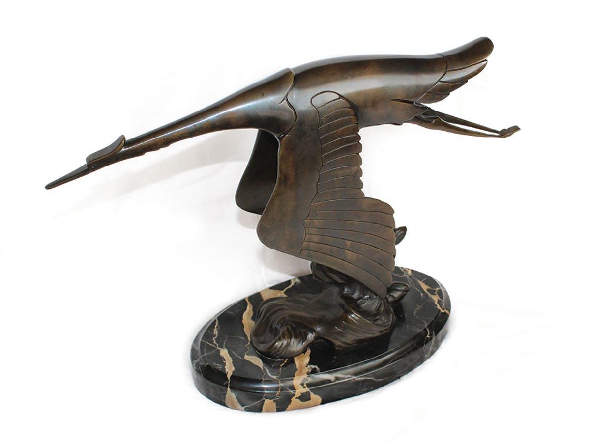 Cigogne en bronze pour Hispano Suiza, image ©Sotheby's