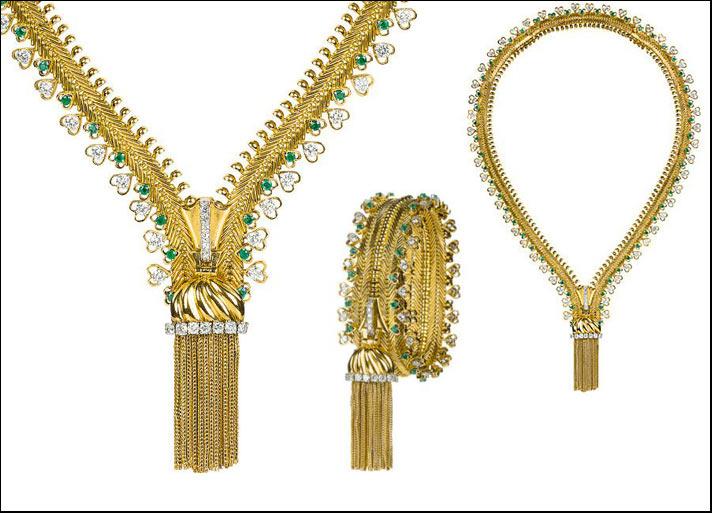 """VAN CLEEF & ARPELS. Collar-pulsera serie """"Zip"""" en forma de brazalete. Imagen Vía Gioiellis"""