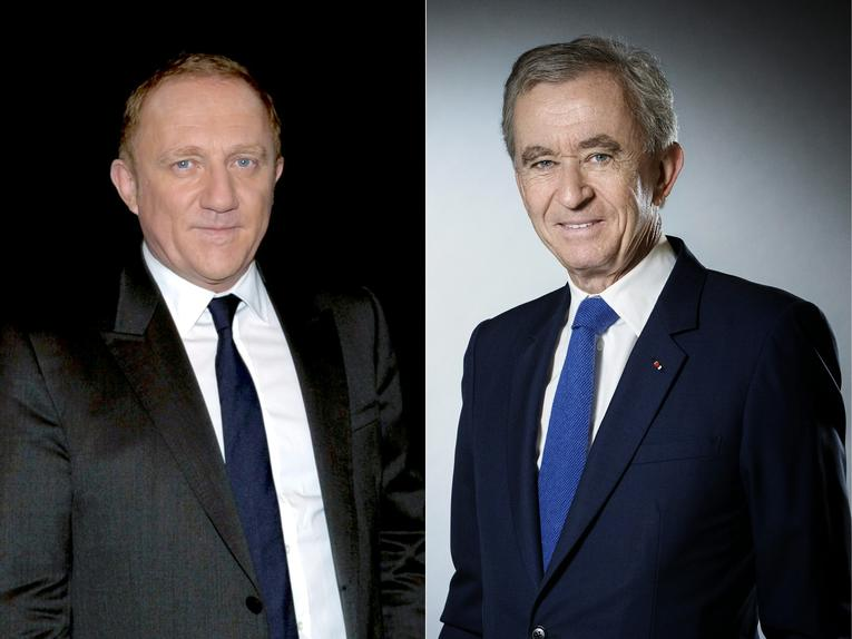 Left: Francois Pinault and right: Bernard Arnault, who donated 100 million euros and 200 million euros to Notre-Dame respectively. Image: Courrier international