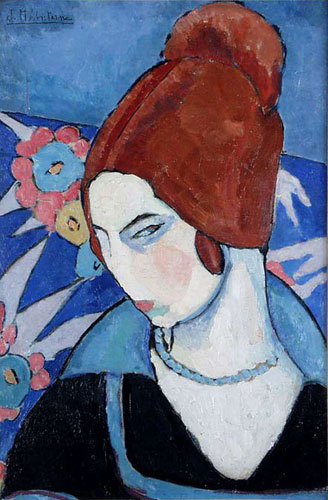 Dieses Selbstportrait malte Jeanne Hébuterne 1916 | Abb. via Wikipedia