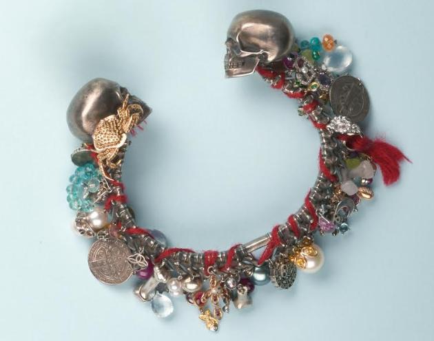 """Étonnant bracelet rigide en argent et or rose 750 signé """"CHOPARD"""" Pièce unique réalisée pour le film: """"Pirates des Caraïbes"""""""