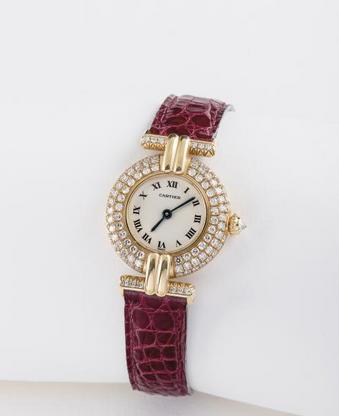 CARTIER (Colisée Lady / or jaune et diamants n° 2808), vers 1989  Estimation : 5 000 € / 6 000 €