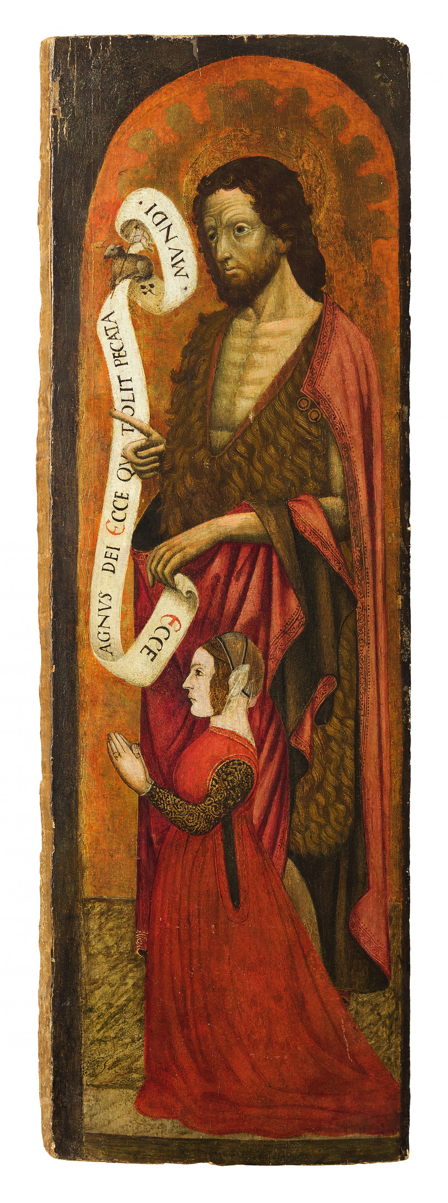 San Giovanni Battista e Donatrice, 15th century Lombardian, estimated at £17 135-25 650 and sold for nearly £32 000.