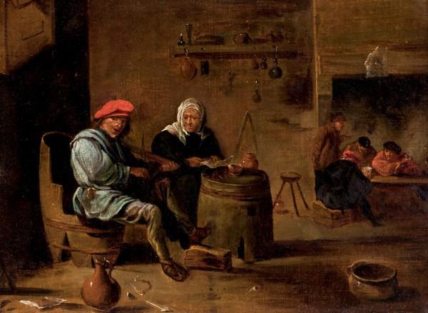 David Tenier Le Jeune, Escena de taberna, huile sur toile, image ©Durán