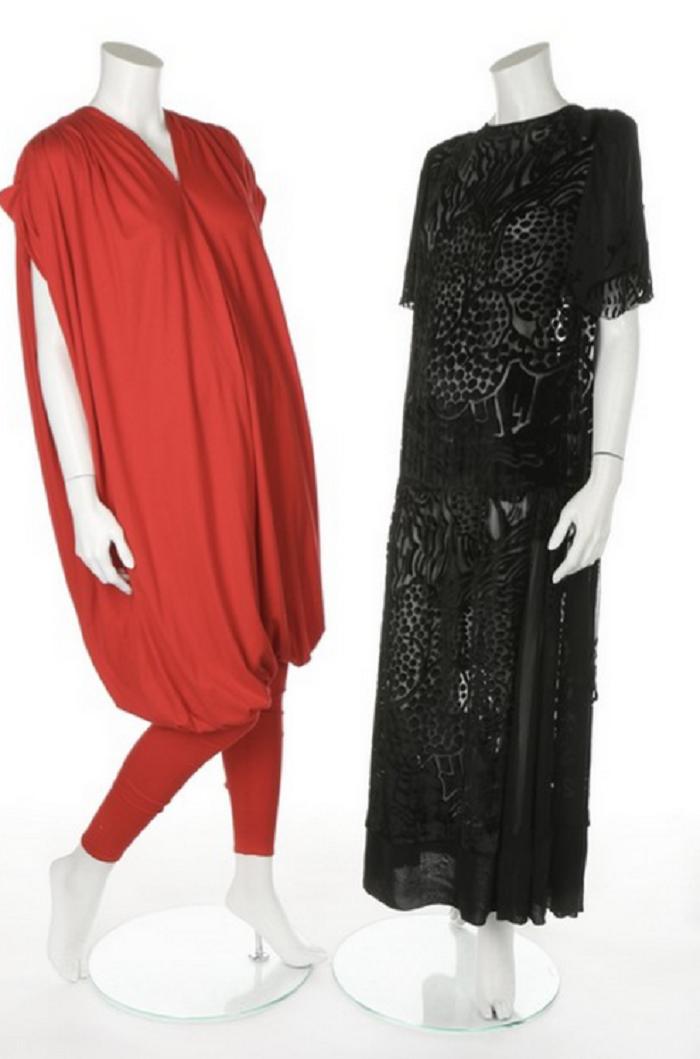 Jumpsuit och klänning burna av Frida och Agneta i ABBA. Utropspris