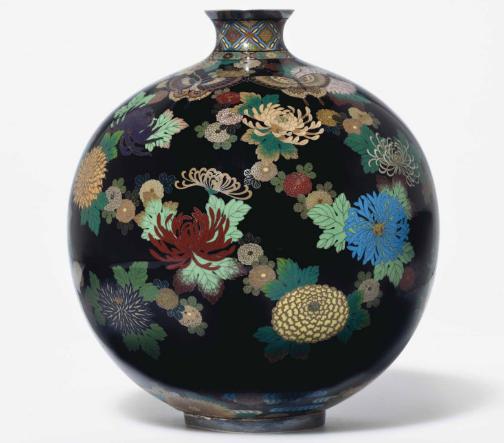 Vase signé Nyoto Namikawa fin XIXe s. (Meiji) Image via Christie's