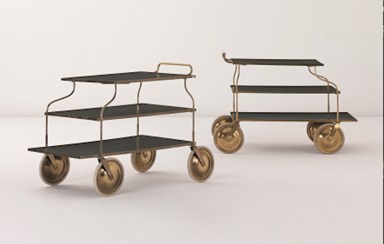 The most expensive serving trolley attributed to Josef Frank sold at auction is this brass pair from Phillips in London from 2011. The realized price reached $17,300. At Barnebys you can find 3,000 realized prices when you search for Josef Frank.