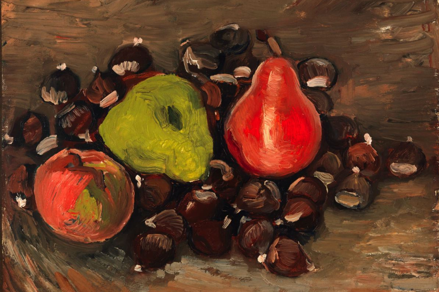Vincent Van Gogh, Still life with fruits and chestnuts, 1886, image via RTL.fr