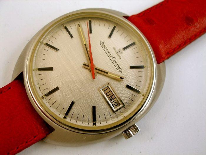 """JAEGER-LECOULTRE. Reloj """"Prototipo invendible"""" con segundos centrales y """"diamante interior"""""""