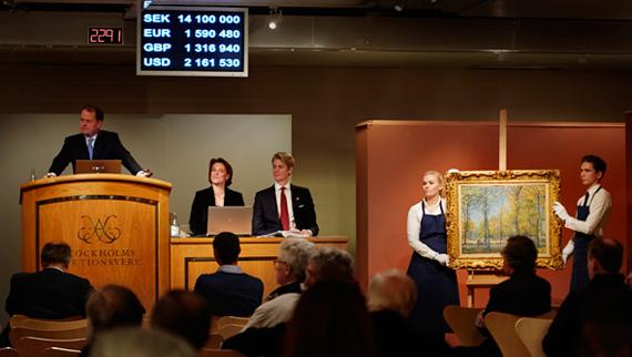 Alfred Sisley såldes på Stockholms Auktionsverk