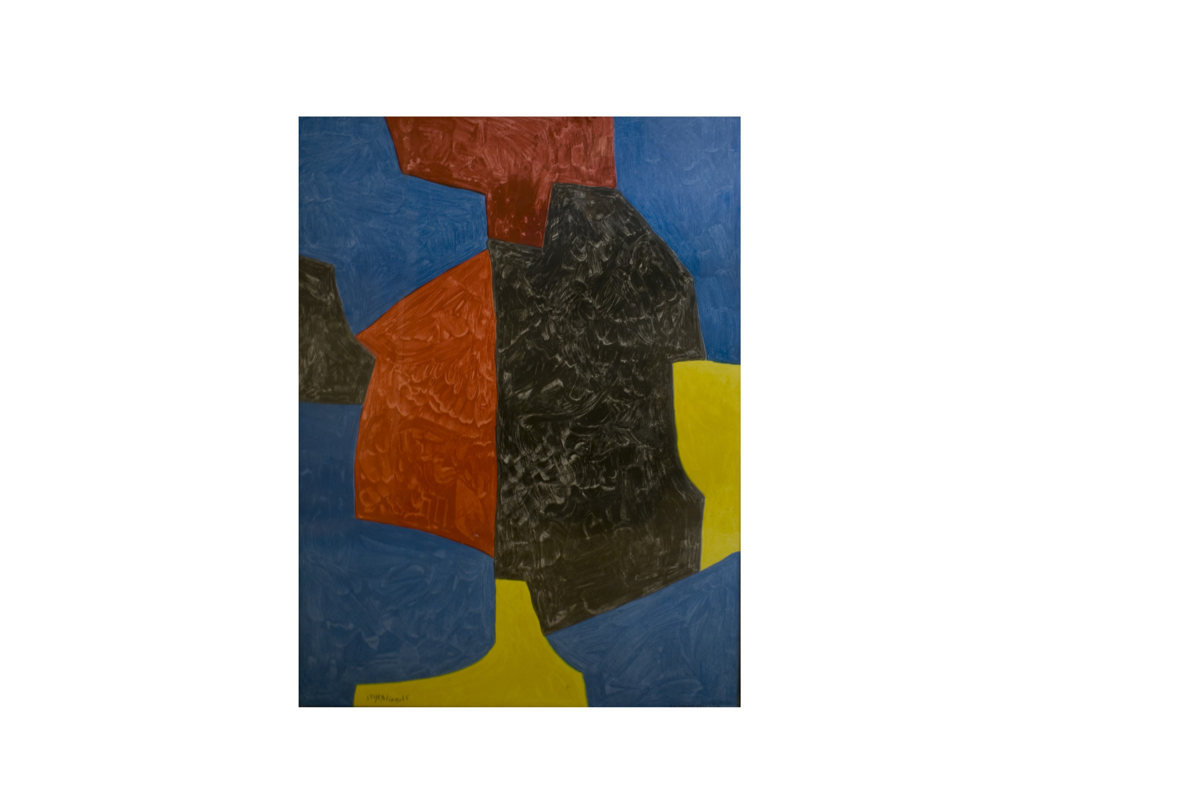 Serge Poliakof, Shapes, lithograph signed in the plate, printed by Mourlot 1972, 90 x 65 cm.