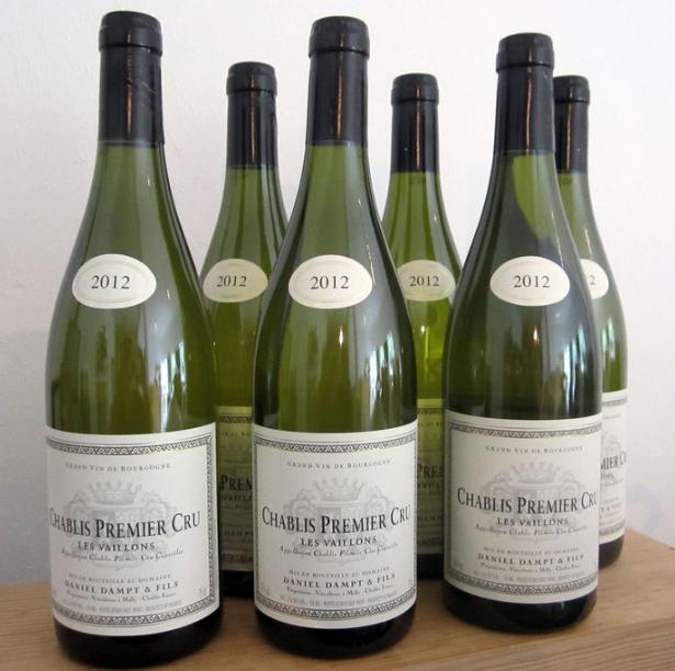 2012 Chablis 1er Cru les Vaillons, Domaine Daniel Dampt - 6 bouteilles Catawiki Estimation basse: 110 €