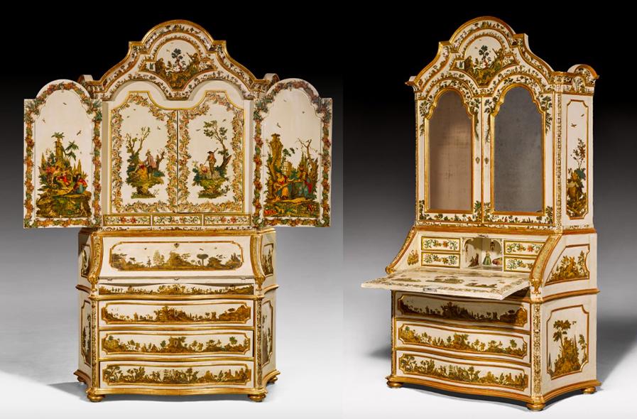 Cabinet Lacca Povera, nord de l'Italie, probablement Venise, milieu du XVIIIe siècle, image ©Koller