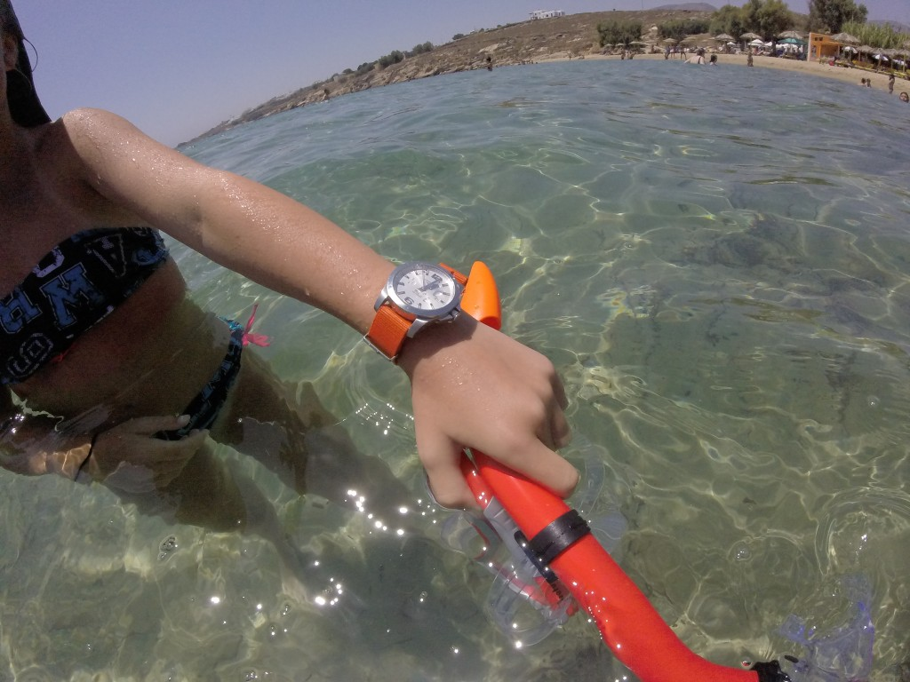 Todays Wristshot: Longines Conquest Automatic on the shores of Paros.