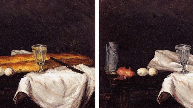Paul Cézannes måltidsbild förlorar en del av sin glans när man plockar baugetterna