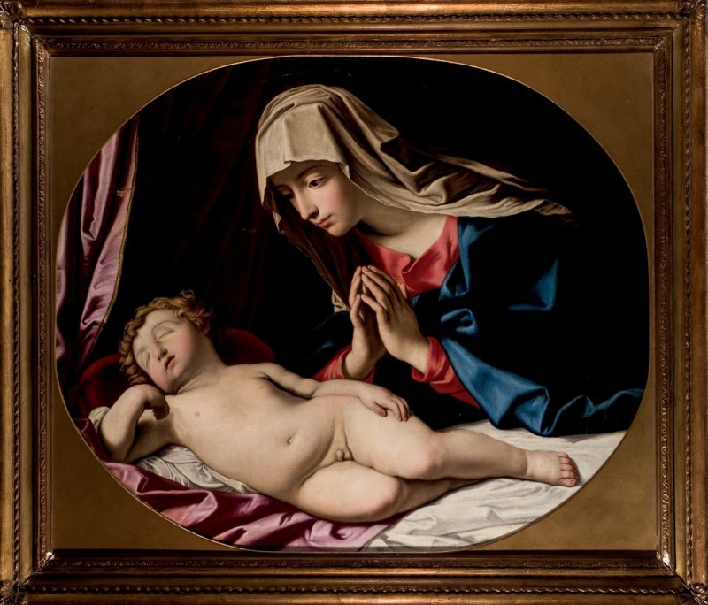 "Disciple of Il Sassoferrato, ""Madonna con Niño dormido"". Photo: Durán Arte y Subastas."