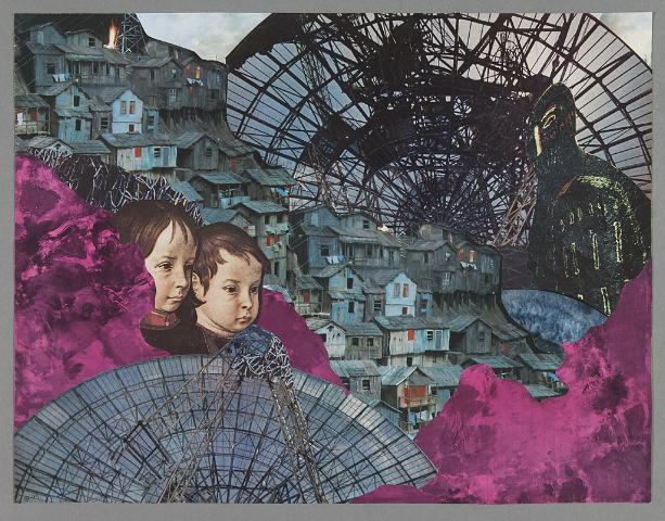 Kerstin Bille - College Klassiskt måleri placeras i ett college där fattigdom är ett av ämnena.