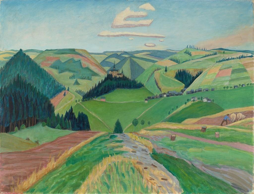 Gabriele Münther, Lauensteiner Land från år 1927. Foto: Grisebach.