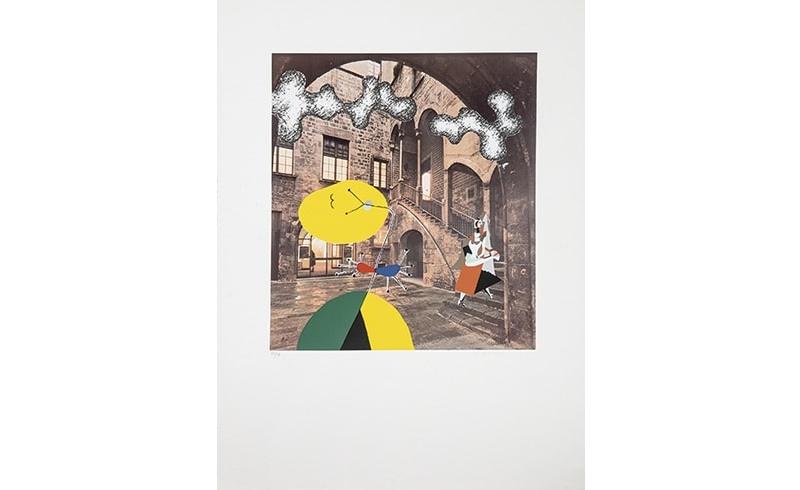 """MANOLO VALDÉS. Serigrafía sobre Fotografía de CATALÀ ROCA """"Galería Maeght"""""""