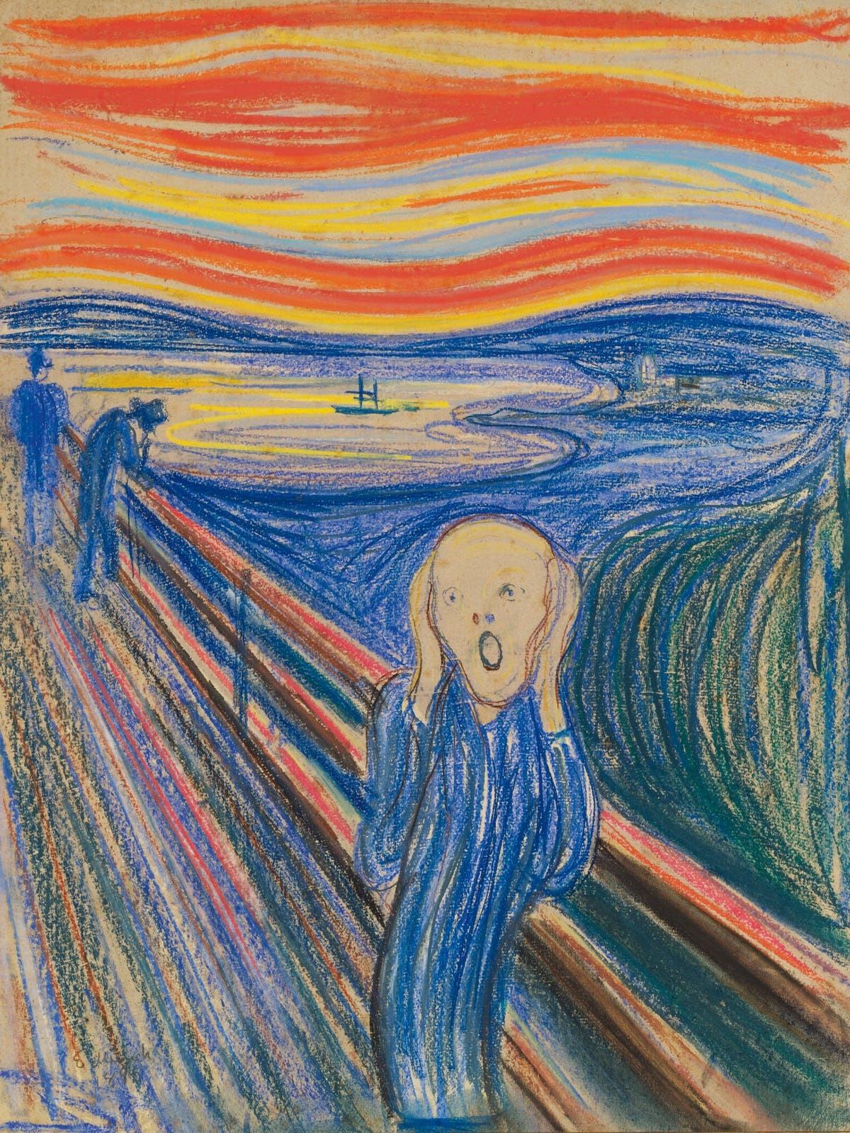 Edvard Munch, The Scream, signerad E. Munch och daterad 1895