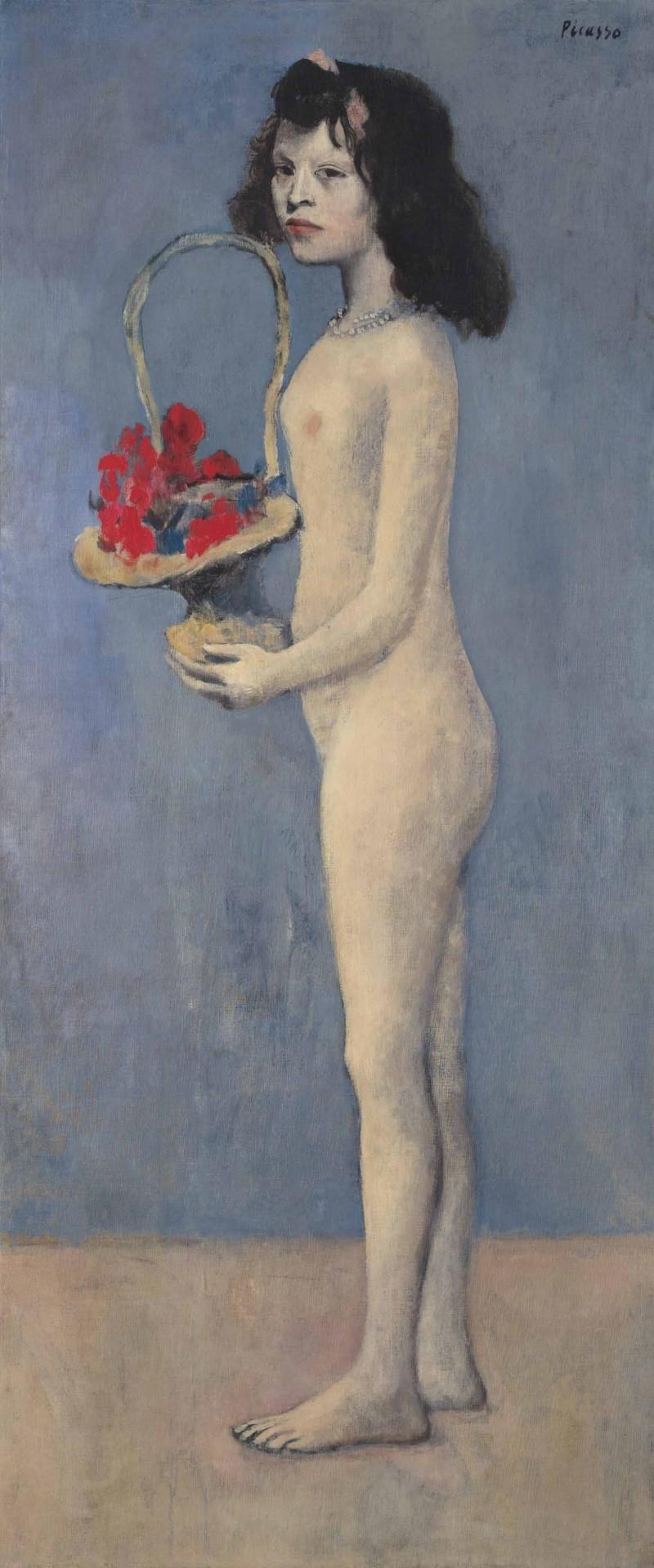 """""""Fillette à la corbeille fleurie"""", målad år 1905. Foto: Christie's."""