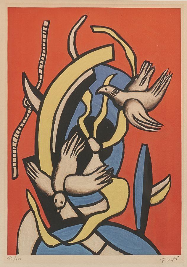 Fernand Léger (1881-1955), 275/ 300, motivet: 54x38. Utrop: 2,000 Sek. Metropol Auktioner