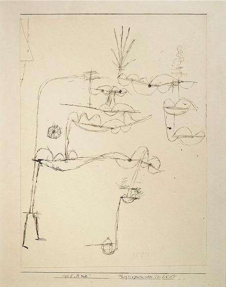 Paul Klee Physiognomischers Teilbild 27 cm x 22 cm Encre sur papier Image: Courtesy of Native Auctions