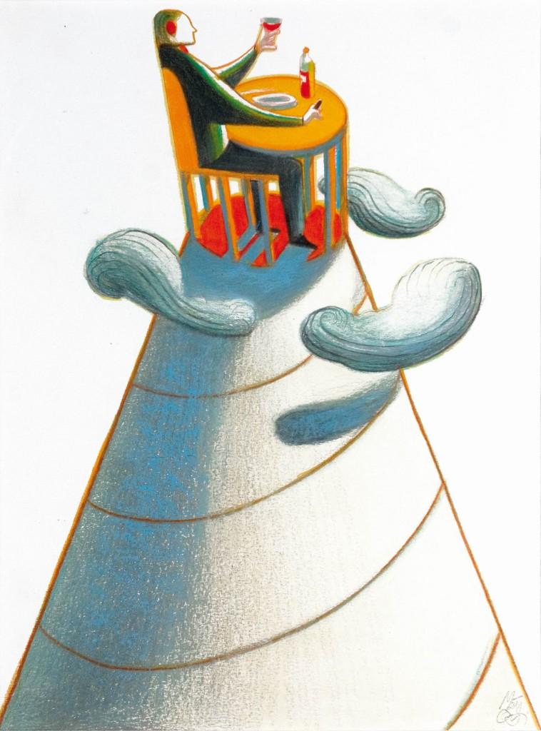 LORENZO MATTOTTI - Wine, Kreide auf Zeichenpapier, signiert Schätzpreis: 1.700-3.500 EUR