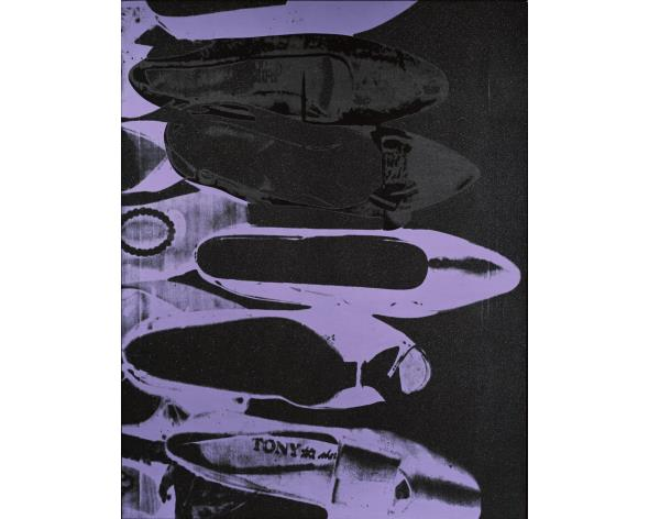 ANDY WARHOL Diamond Dust Shoes, 1980. Low estimate: 2 270 000 USD. Image: Phillips.