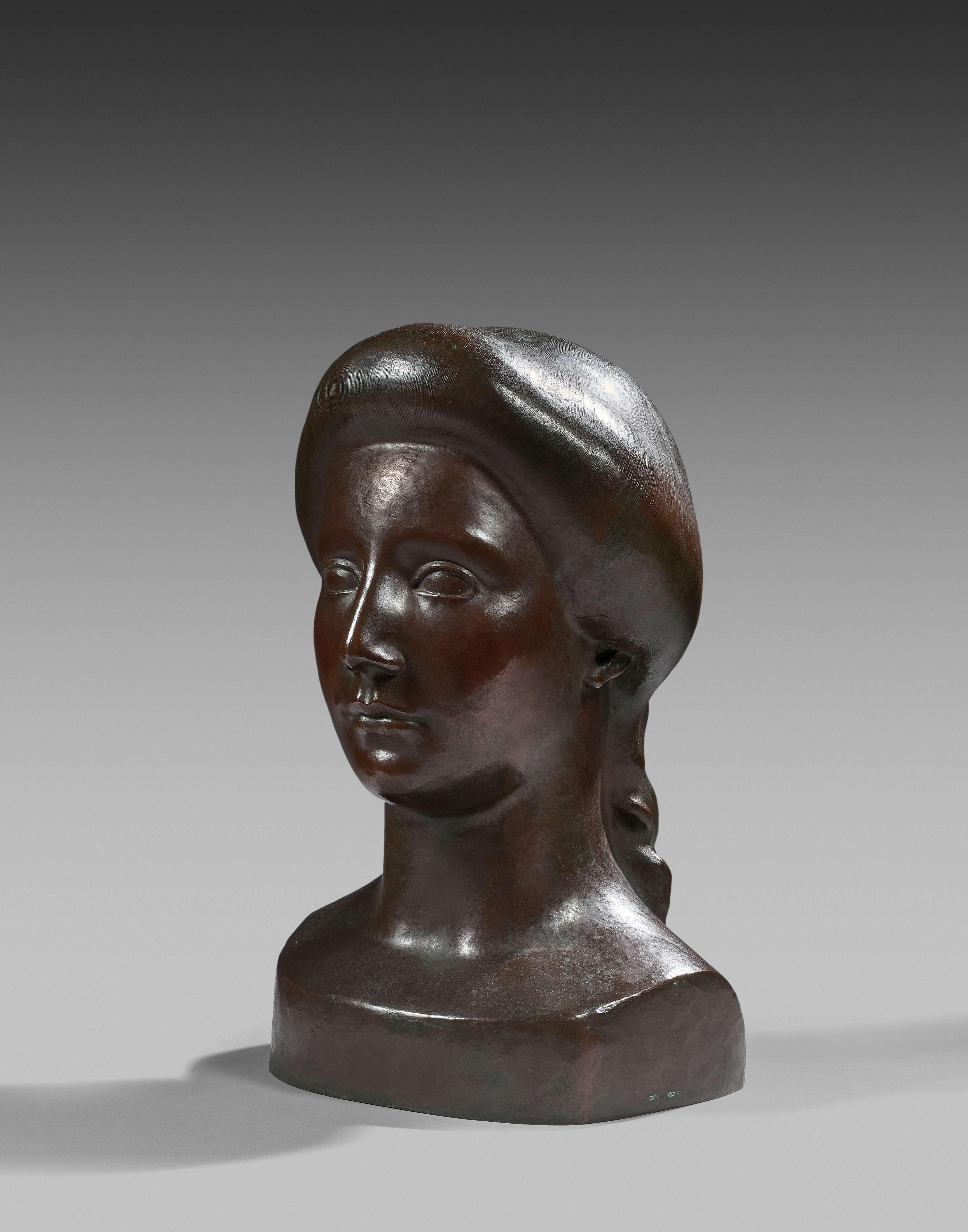 Aristide Maillol, 'Head of Flora', bronze. Photo: Artcurial