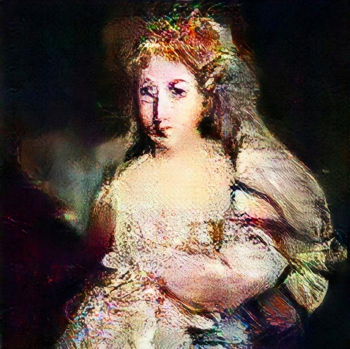 « Portrait de la Comtesse de Belamy », 2018, image ©Obvious