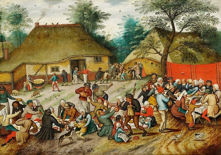 PIETER BRUEGHEL THE YOUNGER (1564 Brussels-1637/38 Antwerpen) –The Peasant Wedding Feast, oil on wood, 41.5 x 58.9 cm, after 1616 Estimate: 1 million-1.2 million EUR