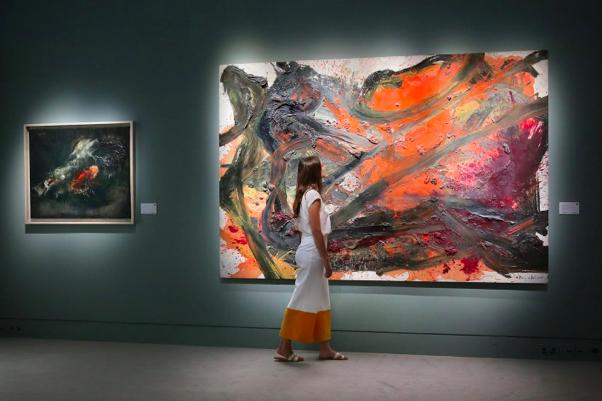 Vente d'art contemporain, l'œuvre de Kazao Shiraga s'envole pour 8,7 millions d'euros, image ©Sotheby's